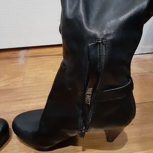 Nine West knee hi platform boots